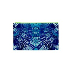 Blue Mirror Abstract Geometric Cosmetic Bag (xs) by CrypticFragmentsDesign