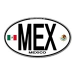 MEX - Mexico Euro Oval Magnet (Oval)