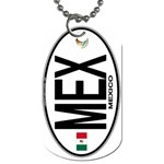 MEX - Mexico Euro Oval Dog Tag (One Side)