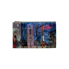 Las Vegas Strip Walking Tour Cosmetic Bag (small)  by CrypticFragmentsDesign