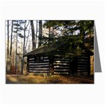 Cabin in the Woods - Leonard Harris State Park - Pennsylvania Grand Canyon - Ave Hurley - Greeting Card