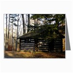 Cabin in the Woods - Leonard Harris State Park - Pennsylvania Grand Canyon - Ave Hurley - Greeting Cards (Pkg of 8)