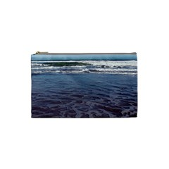 Ocean Surf Beach Waves Cosmetic Bag (small)  by CrypticFragmentsColors