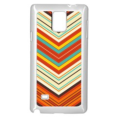 Bent Stripes                                    			samsung Galaxy Note 4 Case (white) by LalyLauraFLM