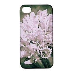 White Flower Apple Iphone 4/4s Hardshell Case With Stand