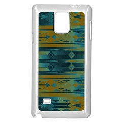 Blue Green Gradient Shapes                                       			samsung Galaxy Note 4 Case (white) by LalyLauraFLM
