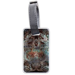 Metallic Copper Patina Urban Grunge Texture Luggage Tag (one Side) by CrypticFragmentsDesign