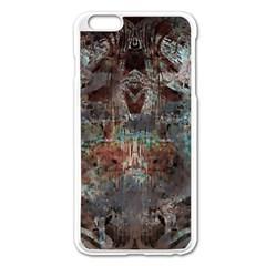 Metallic Copper Patina Urban Grunge Texture Apple Iphone 6 Plus/6s Plus Enamel White Case by CrypticFragmentsDesign