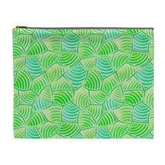 Green Glowing Cosmetic Bag (xl) by FunkyPatterns