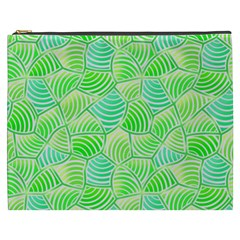 Green Glowing Cosmetic Bag (xxxl)  by FunkyPatterns