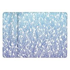 Blue Ombre Feather Pattern, White, Samsung Galaxy Tab 10 1  P7500 Flip Case by Zandiepants