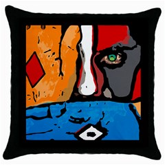 Blue Throw Pillow Case by DryInk