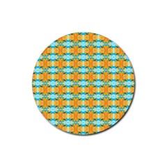 Dragonflies Summer Pattern Rubber Coaster (round)  by Costasonlineshop