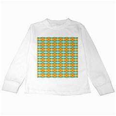Dragonflies Summer Pattern Kids Long Sleeve T Shirts by Costasonlineshop