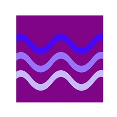 Purple Waves Small Satin Scarf (square) by Valentinaart