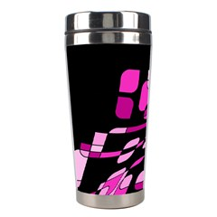 Purple Abstraction Stainless Steel Travel Tumblers by Valentinaart