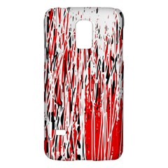 Red, Black And White Pattern Galaxy S5 Mini by Valentinaart