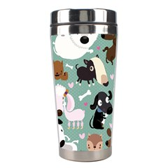 Dog Pattern Stainless Steel Travel Tumblers by Mjdaluz