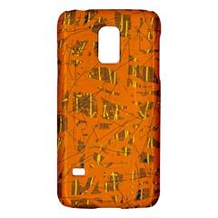 Orange Pattern Galaxy S5 Mini by Valentinaart