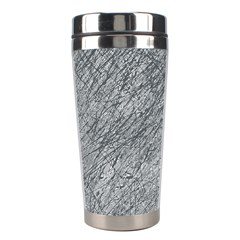 Gray Pattern Stainless Steel Travel Tumblers by Valentinaart