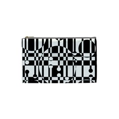 Black And White Pattern Cosmetic Bag (small)  by Valentinaart