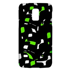 Green, Black And White Pattern Galaxy S5 Mini by Valentinaart
