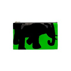 Elephand Cosmetic Bag (small)  by Valentinaart