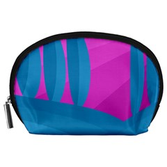 Pink And Blue Landscape Accessory Pouches (large)