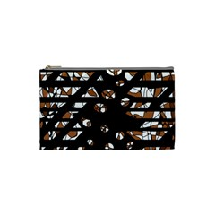 Brown Freedom  Cosmetic Bag (small)  by Valentinaart