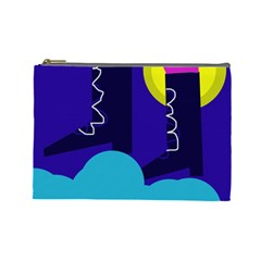 Walking On The Clouds  Cosmetic Bag (large)  by Valentinaart