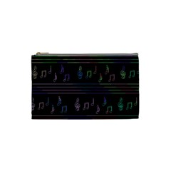 Music Pattern Cosmetic Bag (small)  by Valentinaart