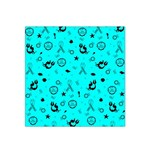 POTS Mermaid Print In Turquoise Satin Bandana Scarf