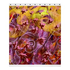 Falling Autumn Leaves Shower Curtain 60  X 72  (medium)