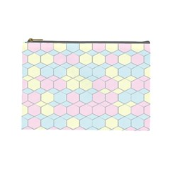 Colorful Honeycomb   Diamond Pattern Cosmetic Bag (large)  by picsaspassion