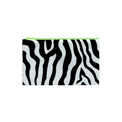 Zebra Horse Skin Pattern Black And White Cosmetic Bag (xs) by picsaspassion