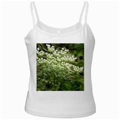 White Summer Flowers White Spaghetti Tank by picsaspassion