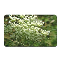 White Summer Flowers Magnet (rectangular) by picsaspassion
