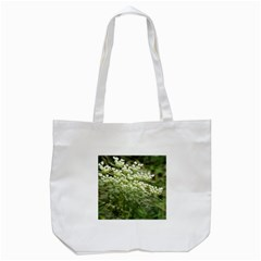 White Summer Flowers Tote Bag (white) by picsaspassion