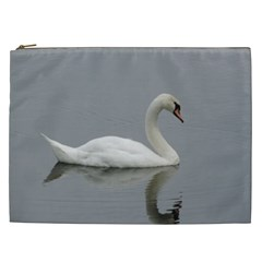 Swimming White Swan Cosmetic Bag (xxl)