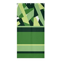 Abstract Jungle Green Brown Geometric Art Shower Curtain 36  x 72  (Stall)  from CircusValley Mall 33.26 x66.24 Curtain