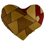 Modern Art Urban Jungle Tower Brown Red Large 19  Premium Heart Shape Cushions from CircusValley Mall Front