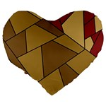 Modern Art Urban Jungle Tower Brown Red Large 19  Premium Heart Shape Cushions from CircusValley Mall Back