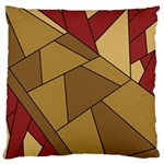 Modern Art Urban Jungle Tower Brown Red Large Flano Cushion Case (Two Sides)