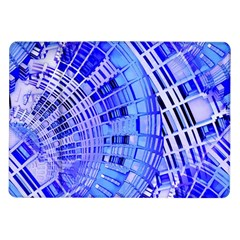 Semi Circles Abstract Geometric Modern Art Blue  Samsung Galaxy Tab 10 1  P7500 Flip Case by CrypticFragmentsDesign