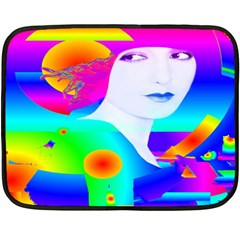 Abstract Color Dream Fleece Blanket (mini) by icarusismartdesigns