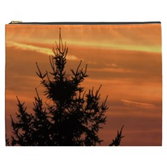 Christmas Tree And Sunset Cosmetic Bag (xxxl)  by picsaspassion