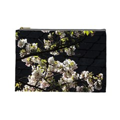 Japanese Cherry Flower Cosmetic Bag (large)  by picsaspassion