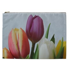 Tulip Spring Flowers Cosmetic Bag (xxl)  by picsaspassion