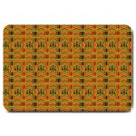 Colorful Kente Pattern2 Large Doormat