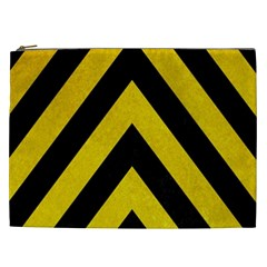 Construction Hazard Stripes Cosmetic Bag (xxl)  by AnjaniArt